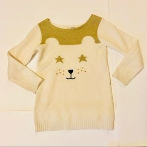 Carter's Matching Sets - Carter's white and gold bear sweater & pants set